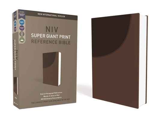 NIV, Super Giant Print Reference Bible, Imitation Leather, Brown, Red Letter Edition by Zondervan