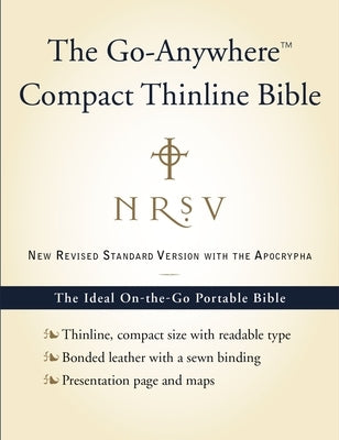 Go-Anywhere Compact Thinline Bible-NRSV-With Apocrypha by Zondervan