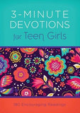 3-Minute Devotions for Teen Girls by Frazier, April