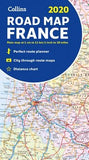 Collins 2020 Road Map France by Collins Maps