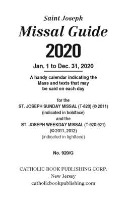 St. Joseph Annual Missal Guide (2020) by Catholic Book Publishing