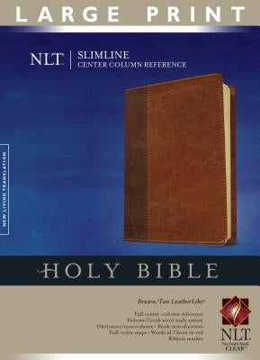 Slimline Center Column Reference Bible-NLT-Large Print by Tyndale