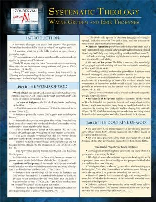 Systematic Theology Laminated Sheet by Grudem, Wayne A.