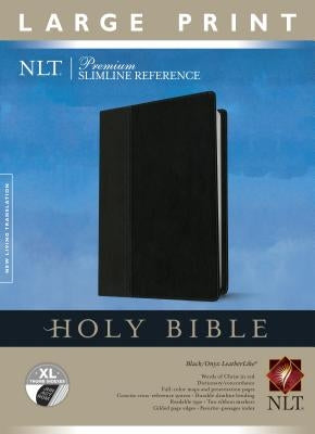 Premium Slimline Reference Bible-NLT-Large Print by Tyndale