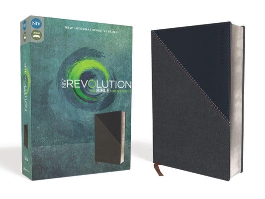 NIV, Revolution Bible, Imitation Leather, Gray/Navy: The Bible for Teen Guys by Livingstone Corporation