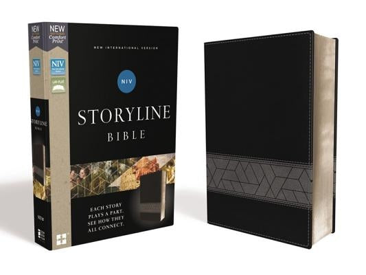 Niv, Storyline Bible, Leathersoft, Black, Comfort Print: Each Story Plays a Part. See How They All Connect. by Emmanuel Foundation