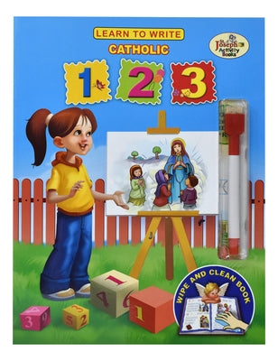 Learn to Write Catholic 123 [With Dry Erase Marker] by Catholic Book Publishing Corp