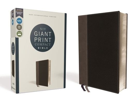 Niv, Giant Print Compact Bible, Leathersoft, Black, Red Letter Edition, Comfort Print by Zondervan