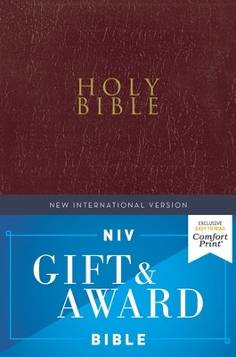 Niv, Gift and Award Bible, Leather-Look, Burgundy, Red Letter Edition, Comfort Print by Zondervan