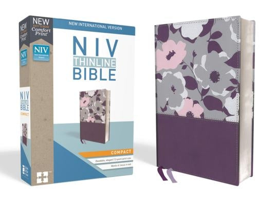 NIV, Thinline Bible, Compact, Imitation Leather, Purple, Red Letter Edition by Zondervan