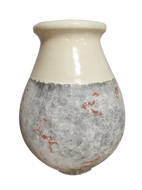 The Biot Jar in French White + Antica Grey