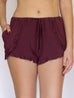 Burgundy Lounge Shorts