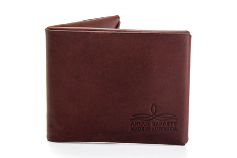 Angus Barrett The Mick Kangaroo Leather Bi-Fold Wallet in Brown