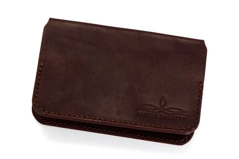 Angus Barrett The Little Yarra Kangaroo Leather Cardholder in Brown