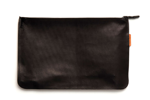 Angus Barrett Kangaroo Leather Document and Tablet Case in Black