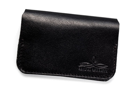 Angus Barrett The Little Yarra Kangaroo Leather Cardholder in Black