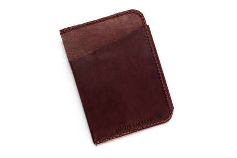 Angus Barrett The Slip Kangaroo Leather Cardholder in Brown