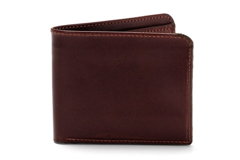 Angus Barrett's Classic Bi-Fold Wallet - Brown Kangaroo Leather