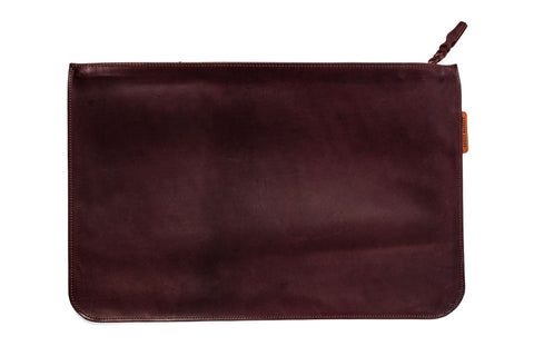 Angus Barrett Kangaroo Leather Document and Tablet Case in Brown