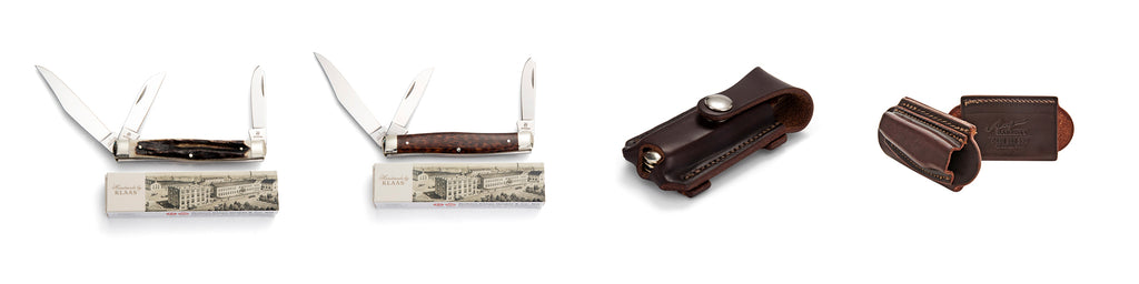 Angus Barrett Pouches and Robert Klaas Knives