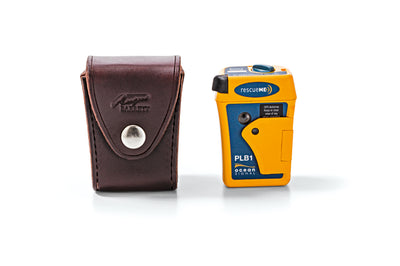 Ocean Signal PLB rescueMe PLB1 with Angus Barrett Leather Pouch