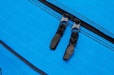 Angus Barrett's Small Canvas Gear Bag features spliced zipper pulls