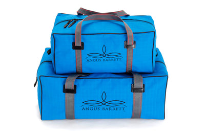 Angus Barrett's Small and Medium Canvas Gear Bags in Blue