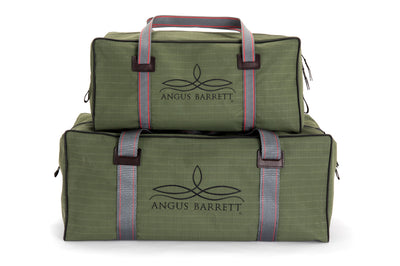 Angus Barrett's Small and Medium Canvas Gear Bags in Green