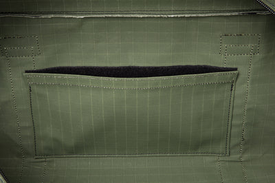 Angus Barrett's Medium Canvas Gear Bag has an internal pocket