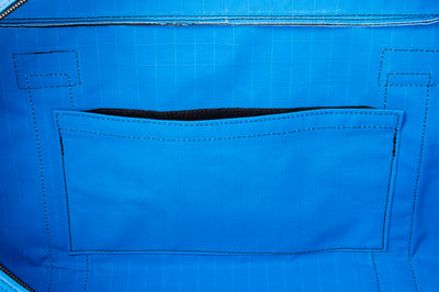 Angus Barrett's Small Canvas Gear Bag has an internal pocket