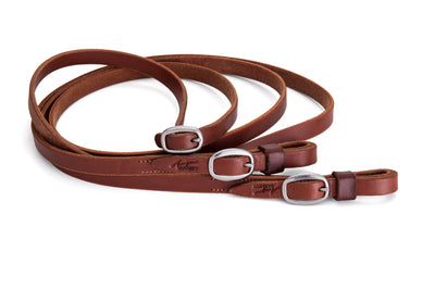 Angus Barrett Joined Reins in Natural with stainless steel buckles