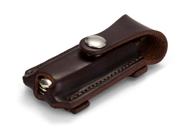 Slide-On Knife Pouch - Dark Natural