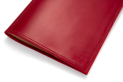 Angus Barrett A4 Leather Diary & Notebook Cover - Red