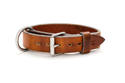 Angus Barrett Working Dog Collar with Stainless steel hardware- 32mm wide