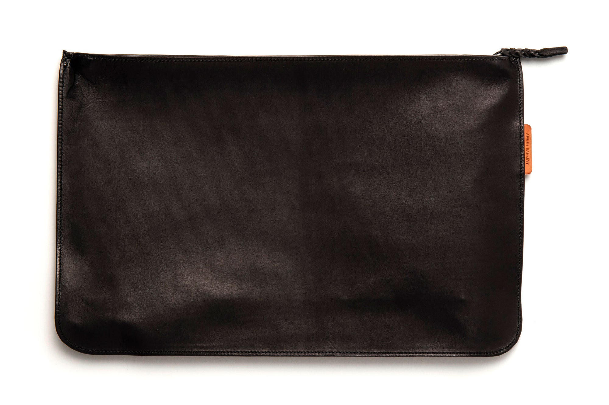 Kangaroo Leather Document And Tablet Case - Black