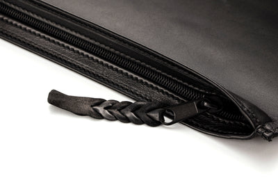 Angus Barrett Kangaroo Leather Document and Tablet Case in Black Matte