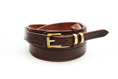 Angus Barrett Drovers Belt with sold Brass hardware