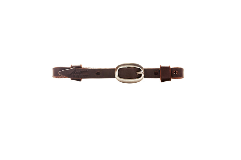 Angus Barrett Dark Natural Single Buckle Curb Strap in Brass