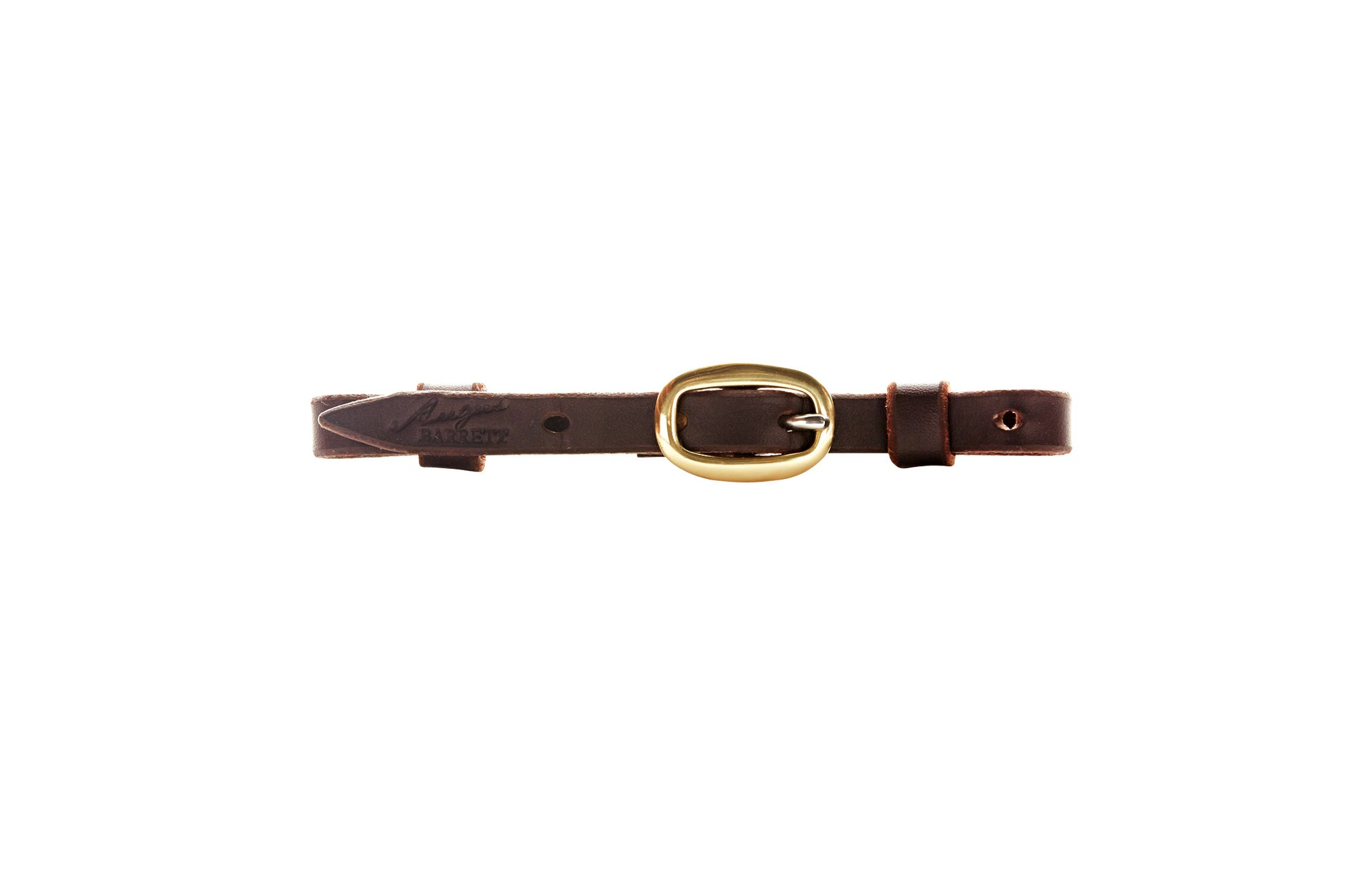 Single Buckle Curb Strap - Dark Natural