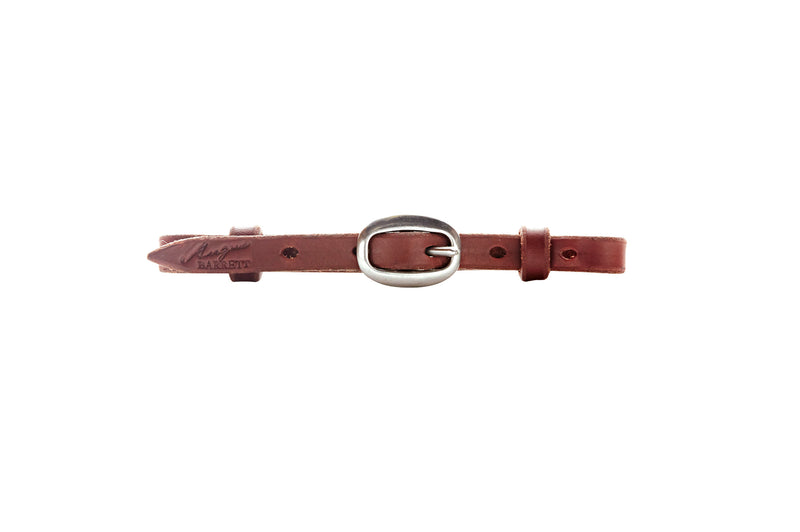 Angus Barrett Natural Single Buckle Curb Strap in Brass