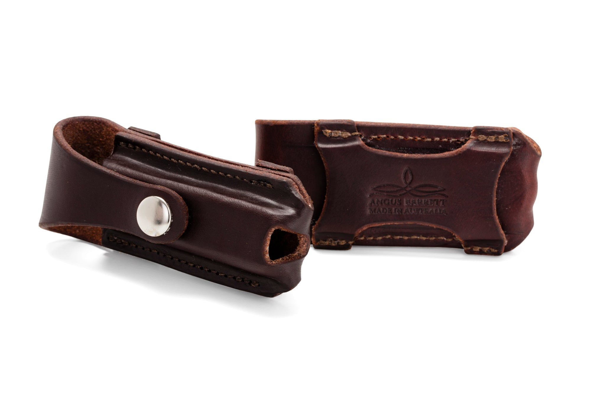 Button Close Knife Pouch - Dark Natural