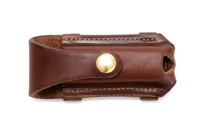 Button Close Knife Pouch - Natural