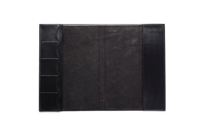 Angus Barrett A4 Leather Diary & Notebook Cover in Black
