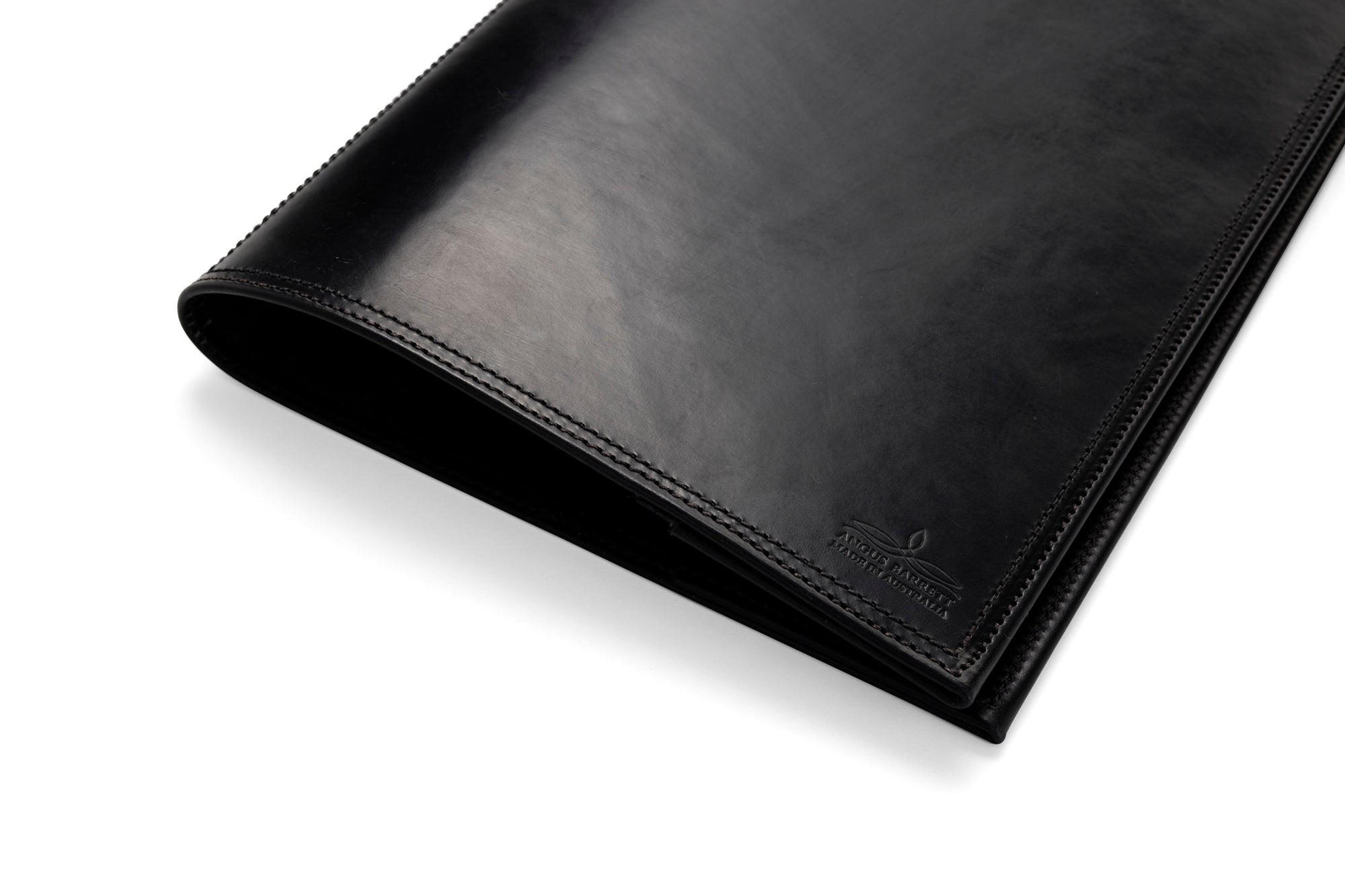 Angus Barrett A4 Leather Diary Notebook Cover In Black