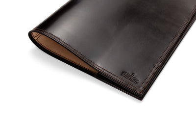 Angus Barrett A4 Leather Diary Notebook Cover In Dark Brown