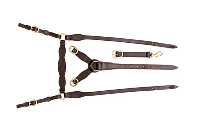 Angus Barrett Station Breastplate - Dark Natural with Brass Hardware