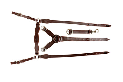 Angus Barrett Station Breastplate - Dark Natural with stainless steel hardware
