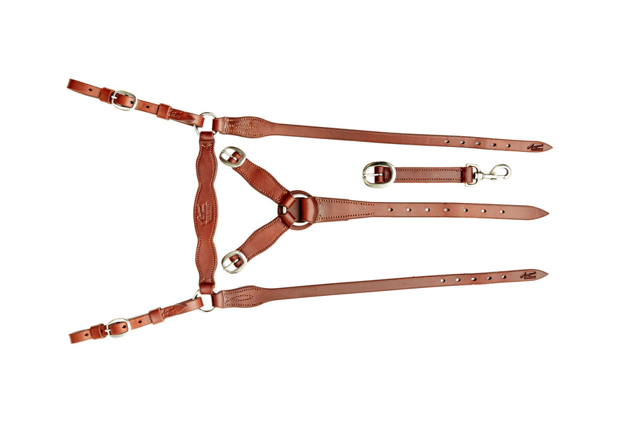 Angus Barrett Station Breastplate - Natural with Brass Hardware