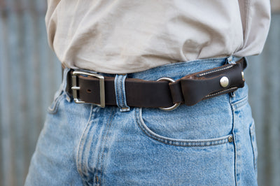 The Eakon Knife Belt is Australian made by Angus Barrett