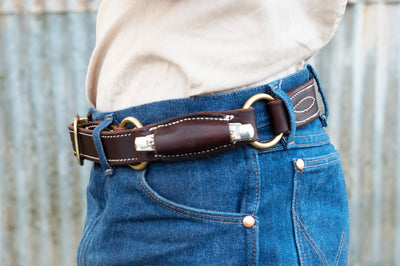 Angus Barrett Hobble Knife Belt with solid Brass hardware